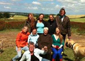 Det første hold Hesteassisterede Teraputer fra Tudsegaård, juni 2014